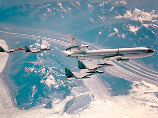 US Air Force KC-10 Air Refueling Operation of F-15 Squadron