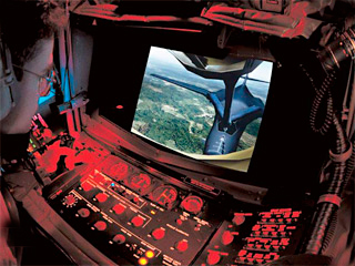 KC-135 Air Refueling Boom Operator Trainer in Use