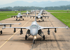 T-50 Group Display in ROKAF Airbase
