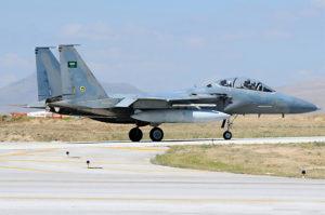 Saudi F-15 Taxiing