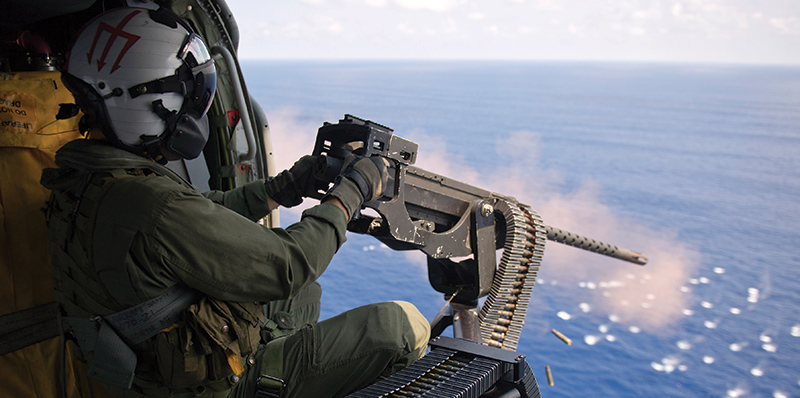 Acme Realistic Recoil Gun Helicopter Firing