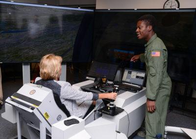 US Secretary DeVos visits AF Academy DMS
