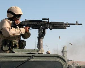 M240 Machine Gun on Vehicle Mount