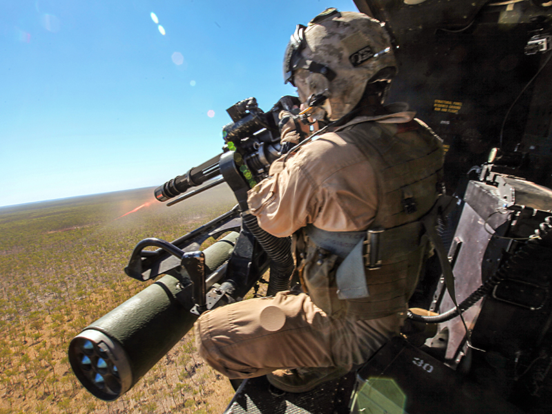 M134 GAU-17A on a UH-1Y