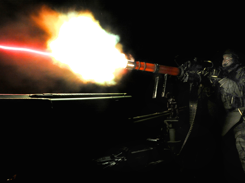 M134 GAU-17A on a US Navy Riverine Assault Boat