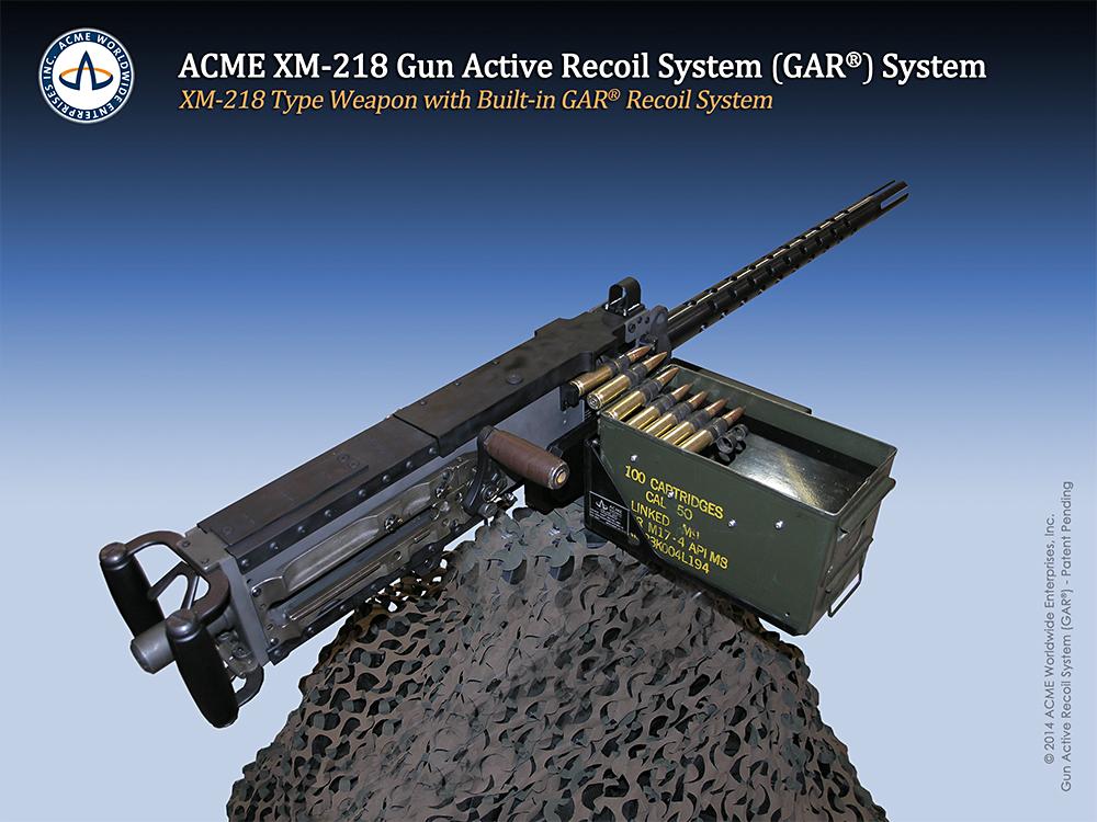 XM-218 Gun Active Recoil GAR®